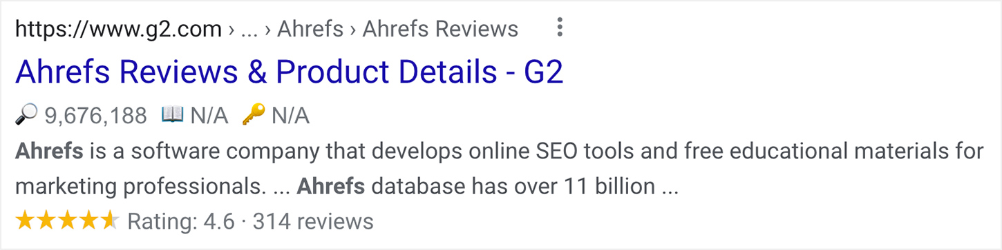 Google Review Snippet