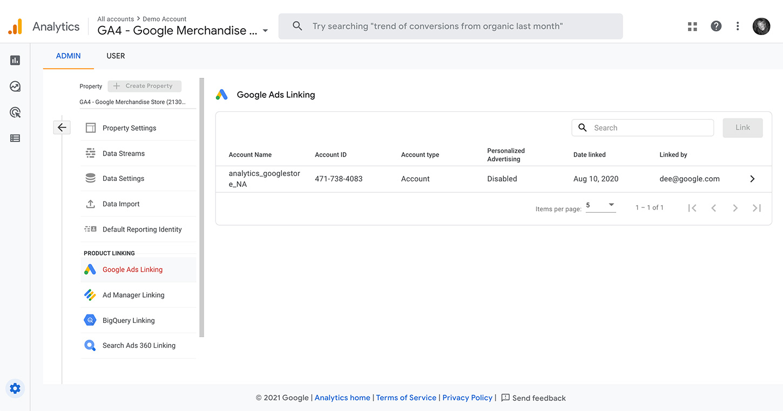 GA4 Google Ads Linking